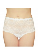 Lace Boxer Shorts White