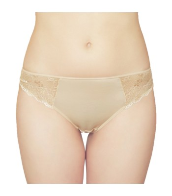 Floral Lace Briefs Knickers Beige 3213