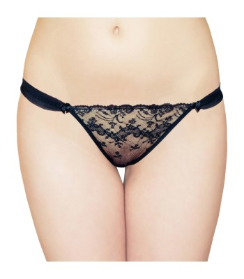 Sexy Lace Thong Black 2733