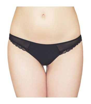 Low Rise Mesh Thongs Black 2102