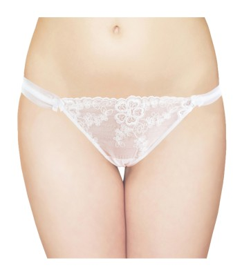 Sexy Lace Thong White 2733