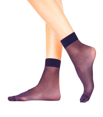 EMA Sheer Ankle High Pop Socks Extra Elastane 20 Denier - 4 Pairs