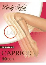 2 Pairs Pack CAPRICE Sheer Knee High Socks 20 Denier Extra Elastane SHINY