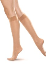2 Pairs COMFORT Sheer Knee Highs Pop Socks 20 Denier