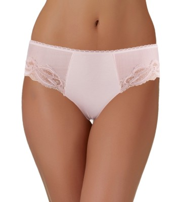 Brazilian Briefs Lace Insert - Soft Pink