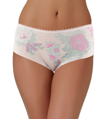 Lace Trimmed Boxers Shorts Creamy