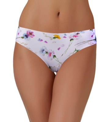 SIMPLY Minimum Seams Knickers Panties - White Floral