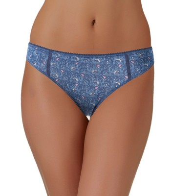 Low Rise Bikini Brief In Navy Floral Printed