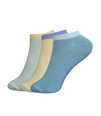 Bamboo Invisible Trainers Line Socks - 3 Pairs pack