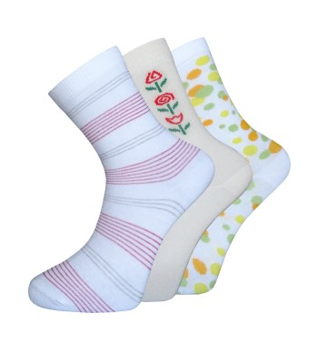 Cotton Rich Figural Socks - 3 Pairs Pack