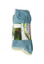 Bamboo Socks With Contrast Cuffs - 3 Pairs Pack